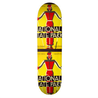 National and state parks, skiing - Dorothy Waugh 19.7 Cm Skateboard Deck