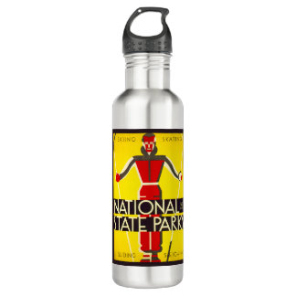 National and state parks, skiing - Dorothy Waugh 710 Ml Water Bottle