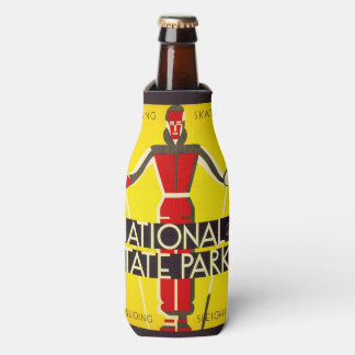 National and state parks, skiing - Dorothy Waugh Bottle Cooler