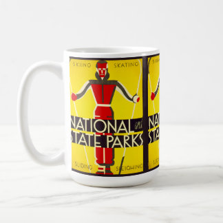 National and state parks, skiing - Dorothy Waugh Coffee Mug