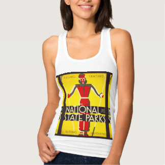 National and state parks, skiing - Dorothy Waugh Singlet