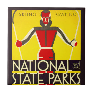 National and state parks, skiing - Dorothy Waugh Tile