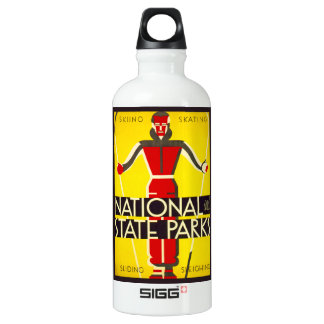 National and state parks, skiing - Dorothy Waugh Water Bottle