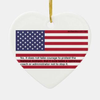 National Anthem Protests Ceramic Heart Decoration