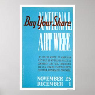 National Art Week 1938 WPA Poster