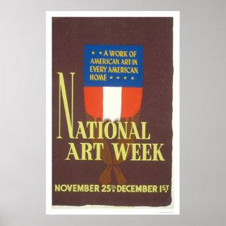 National Art Week 1941 WPA Poster