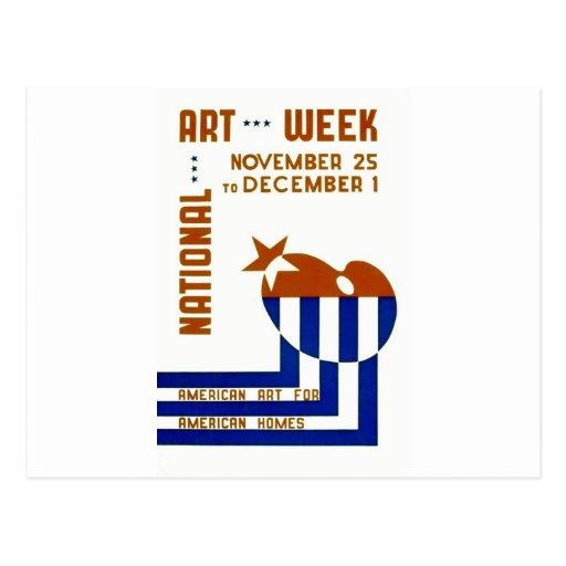 National Art Week  - WPA Poster - Postcard