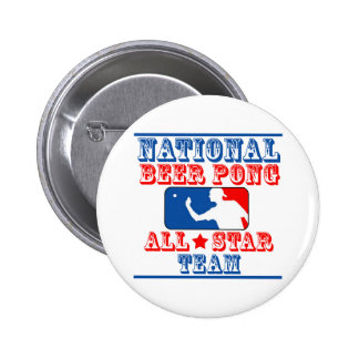 National Beer Pong Team 6 Cm Round Badge