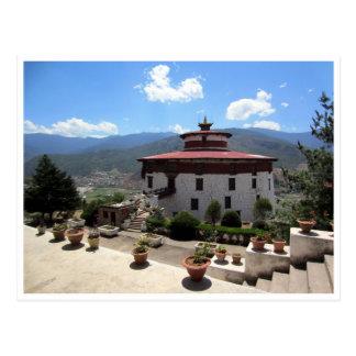 national bhutan museum postcard