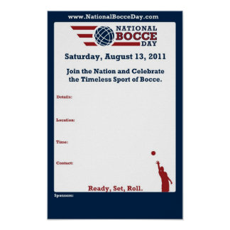 National Bocce Day Event Poster