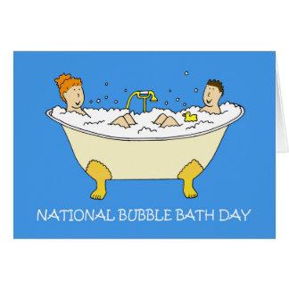 National Bubble Bath Day January 8th Card