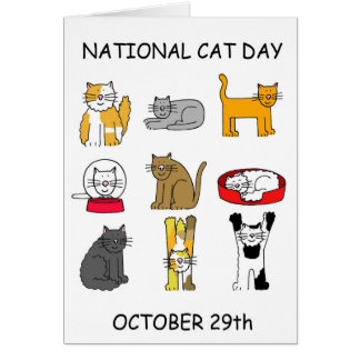 National Cat Day October 29th Card