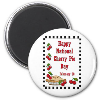 National Cherry Pie Day February 20 6 Cm Round Magnet