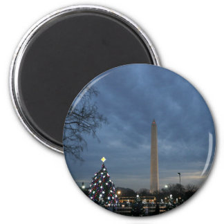 National Christmas Tree Washington Monument Fridge Magnet