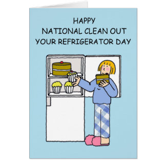 National clean out your refrigerator day. card