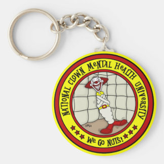 National Clown Mental Health University Basic Round Button Key Ring