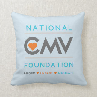 National CMV Foundation Throw Pillow