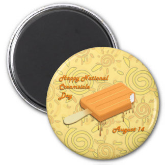 National Creamsicle Day August 14 6 Cm Round Magnet