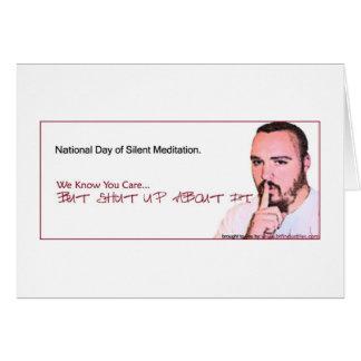 National Day of Silent Meditation Reminder (NDSM3) Card