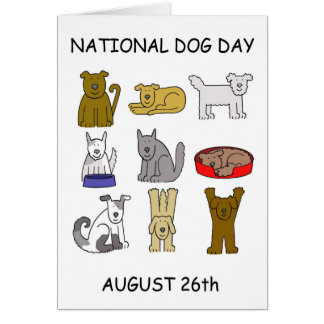 National Dog Day August 26th Card
