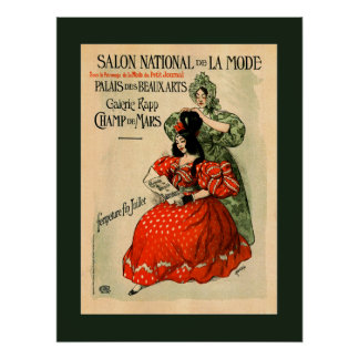 National Exhibition of Fashion Palace of Fine Arts Poster