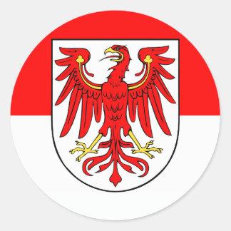 National flag Brandenburg Classic Round Sticker