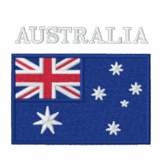 National Flag of Australia Embroidered Hoody