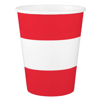 National Flag of Austria Paper Cup