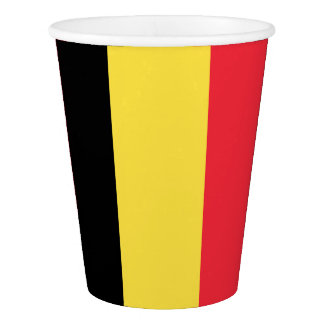 National Flag of Belgium Paper Cup