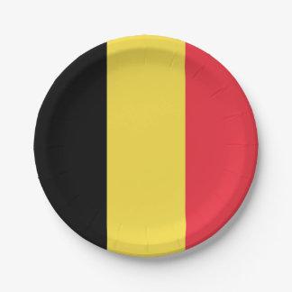 National Flag of Belgium Paper Plate