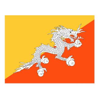 National Flag of Bhutan Postcard