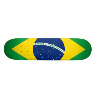 National Flag of Brazil, accurate proportion color 21.6 Cm Old School Skateboard Deck