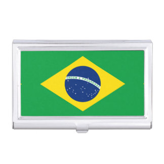 National Flag of Brazil, accurate proportion color Business Card Holder