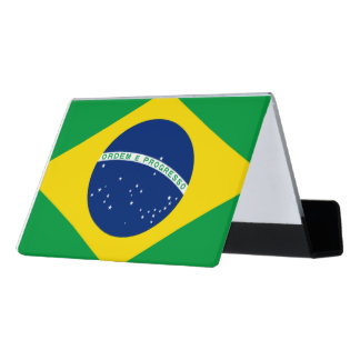 National Flag of Brazil, accurate proportion color Desk Business Card Holder