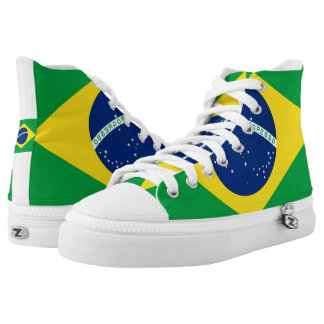 National Flag of Brazil, accurate proportion color High Tops