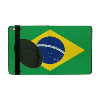 National Flag of Brazil, accurate proportion color iPad Case