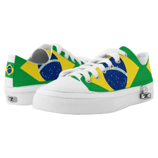 National Flag of Brazil, accurate proportion color Low Tops