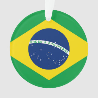 National Flag of Brazil, accurate proportion color Ornament
