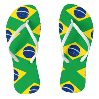 National Flag of Brazil, accurate proportion color Thongs