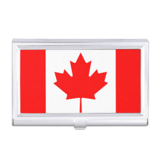 National Flag of Canada, maple leaf, high detailed Business Card Holder