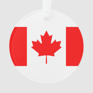 National Flag of Canada, maple leaf, high detailed Ornament