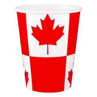 National Flag of Canada, maple leaf, high detailed Paper Cup