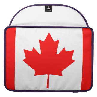 National Flag of Canada, maple leaf, high detailed Sleeve For MacBooks