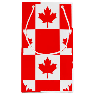 National Flag of Canada, maple leaf, high detailed Small Gift Bag