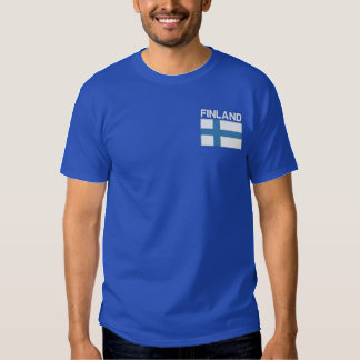 National Flag of Finland Embroidered T-Shirt