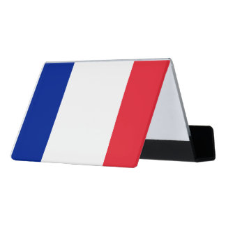 National Flag of France Desk Business Card Holder