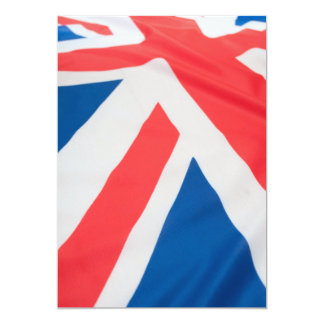 National Flag Of Great Britain 13 Cm X 18 Cm Invitation Card