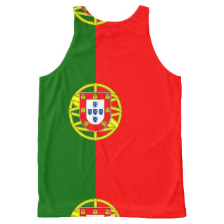 National Flag of Portugal All-Over Print Singlet