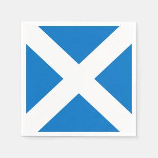 National Flag of Scotland Saint Andrew's Cross Disposable Serviette