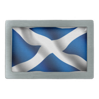 National Flag of Scotland & St Andrew Patriotic Belt Buckle